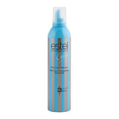 Мусс для волос ESTEL AIREX для создания локонов сильная фиксация, 400 мл